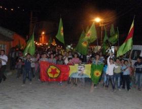 Çukurcada PKK bayraklı yürüyüş