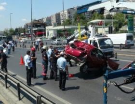 Takla atan araçtan hafif yaralı çıktılar