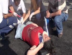 Hem sürücü hem de yaralı kız ağladı