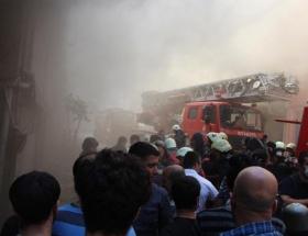 Bağcılarda fabrika yangını