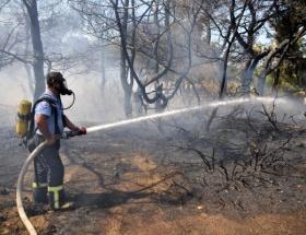 Kepsutta orman yangını kısmen kontrol altında