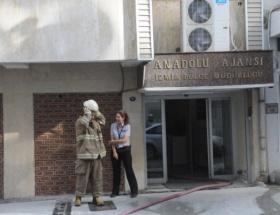 Anadolu Ajansı binasında yangın
