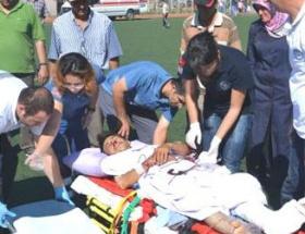 Ambulans helikopter kazazede için havalandı