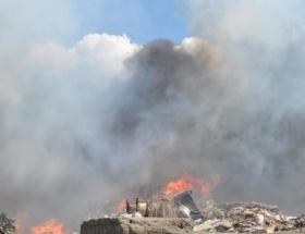 Edremitte şehir çöplüğü yandı