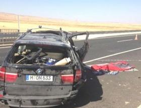 Nusaybinde trafik kazası: 1 ölü, 5 yaralı
