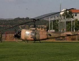 Askeri helikopter acil iniş yaptı!