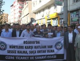Cizreden, Suriyedeki Kürtlere destek