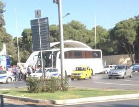 Silivriye giden otobüsler engellendi
