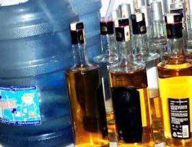 Bodrumda otele kaçak içki baskını
