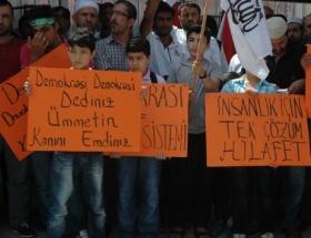 Mısır protestosunda tartışılacak pankartlar