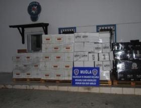Bodrumda binlerce şişe kaçak içki
