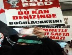 İran İstanbul Başkonsolosluğu önünde protesto