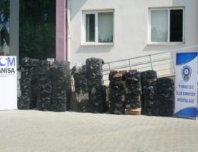 Turgutlu Emniyeti 31 bin paket kaçak sigara ele geçirdi