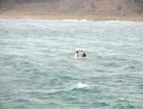 Şiddetli rüzgar balıkçılara kabus yaşattı