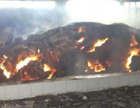 5 bin saman balyası yandı