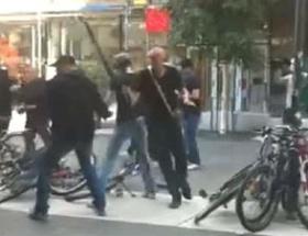 Neo Naziler polise saldırdı