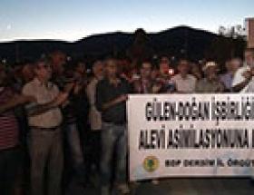 BDPlilerden Cami Cemevi protestosu