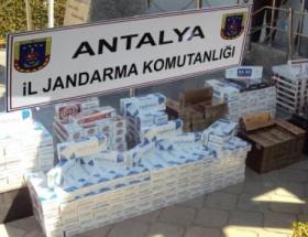 Manavgatta kaçak sigara operasyonu
