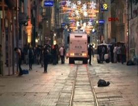 Taksimde polis müdahalesi
