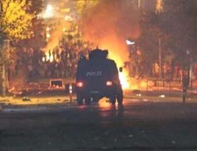 Gazideki gruba polis müdahalesi