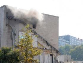 İnönü Stadında yangın