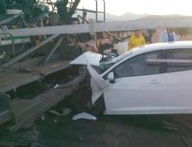 Ispartada kaza: 2 ölü, 1 yaralı