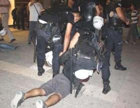 Mersinde izinsiz gösteri: 8 gözaltı