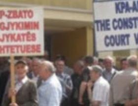 Başbakanlık önünde protesto
