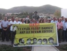 Tuncelide 12 Eylül ve Ahmet Atakan protestosu
