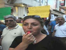 Antalyada 12 Eylül protestosu