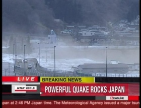 Japonyada 8.9 büyüklüğünde deprem !