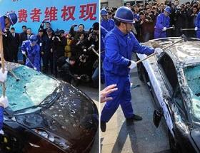 Lamborghiniyi paramparça ettiler!