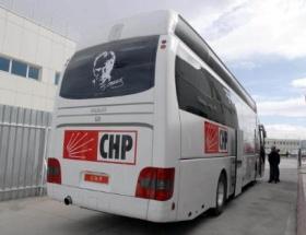 CHP otobüsüne saldırı!