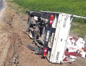 İslahiyede kamyonet devrildi: 1 yaralı