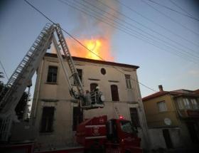 Eski Tekel binasında yangın
