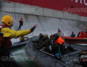 Greenpeace eylemcilerine ateş açtılar