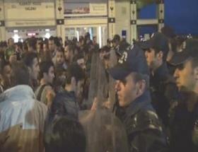 Beşiktaştaki eyleme polis müdahalesi