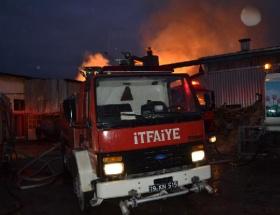 Kereste fabrikasında yangın paniği