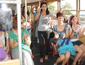 Tramvayda kürtaj eylemi