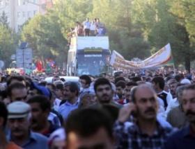 BDPnin yürüyüşünde gerginlik