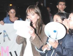 İzmirde Suriye Tezkeresi protestosu