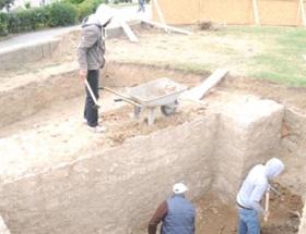Selimiye Meydanında han kalıntıları bulundu
