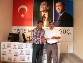 Gülnarda AK Partiden ilk adaylık başvurusu yapıldı