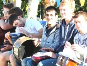 Engelli çocuklar müzik yaptı