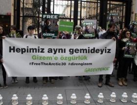 Gizem için sessiz protesto