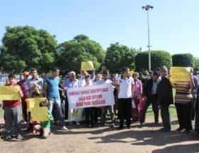Adana esnafı eylemde