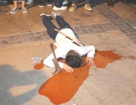 Kurbanlık kesimi protesto edildi