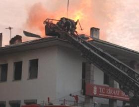 Banka şubesinde korkutan yangın