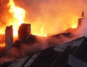 Boş binada çıkan yangın söndürüldü