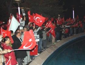 Erzurumda Cumhuriyet yürüyüşü